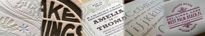letterpress visitekaartjes en uitnodigingen